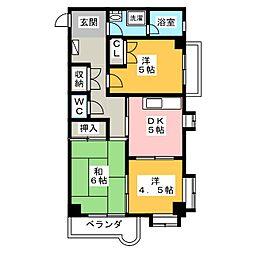 シャトレ・ド・フジ[2階]の間取り