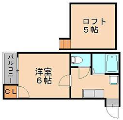 アクアフレスカ博多[2階]の間取り