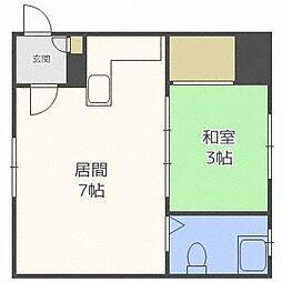 ジェーハイツ札幌中央1[2階]の間取り