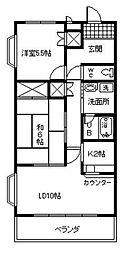 愛知県安城市二本木新町1丁目の賃貸マンションの間取り