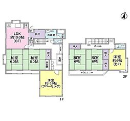 [一戸建] 神奈川県横浜市泉区弥生台 の賃貸【/】の間取り
