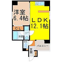 Manoir nakata(マノワール仲田)[402号室]の間取り
