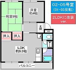 松本第1マンション[402号室]の間取り