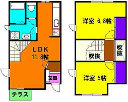 [テラスハウス] 静岡県浜松市東区笠井上町 の賃貸【/】の間取り