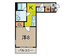 ピーチ戸田公園[2階]の間取り