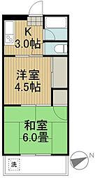 クレールマンションノグチ[3階]の間取り