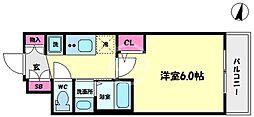 エステムコート難波サウスプレイスVIラグジー 10階1Kの間取り