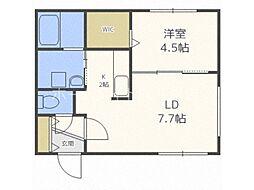 仮称)澄川2-3B棟 2階1LDKの間取り