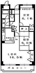 ヒルサイドヴィラ東戸塚(ヒルサイドビラヒガシトツカ)[4階]の間取り
