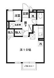 茨城県水戸市河和田1丁目の賃貸アパートの間取り