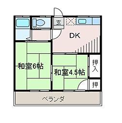 ハイツ近藤[2階]の間取り