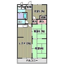 角谷フラット[2階]の間取り