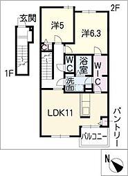 メルヘン フォレスト B棟[2階]の間取り