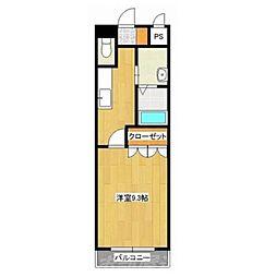 コンフォルト城野[2階]の間取り