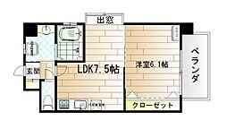 ハーヌルNakai[6階]の間取り