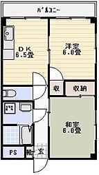 メゾンコム[504号室]の間取り