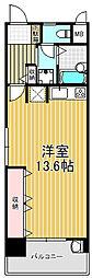ノバ四ツ橋3番館[3階]の間取り