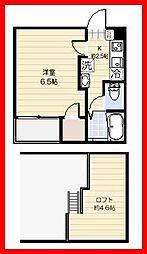 東京都荒川区町屋2丁目の賃貸アパートの間取り