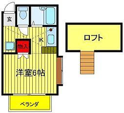 江戸川台カサベラ5番館[203号室]の間取り