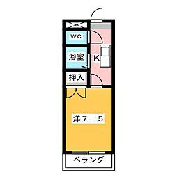 ジョワイユ21[3階]の間取り