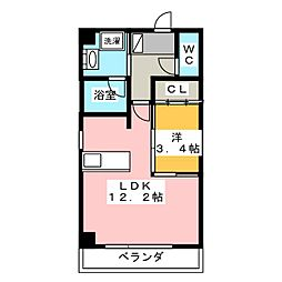 N−GLANZ[7階]の間取り