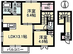 CASA SACHI[2階]の間取り