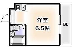 Osaka Metro堺筋線 恵美須町駅 徒歩7分の賃貸マンション 4階1Kの間取り