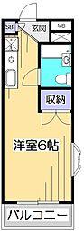 東京都小平市上水本町4丁目の賃貸アパートの間取り