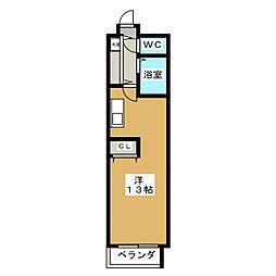 エリーフラッツ西ノ京[4階]の間取り