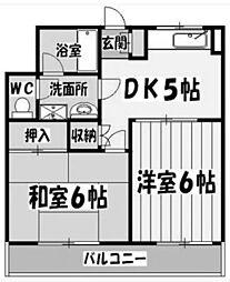 埼玉県さいたま市大宮区三橋4丁目の賃貸マンションの間取り
