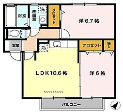 サワーフローラ[2階]の間取り