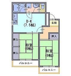 ハイツ三宅[2階]の間取り