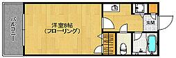 福岡県福岡市早良区西新4の賃貸マンションの間取り