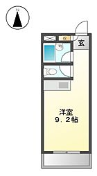 ハイツ幅下[2階]の間取り