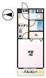CASA・SOL[206号室]の間取り
