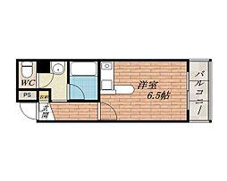 ビクトリア茨木[2階]の間取り