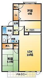 千葉県松戸市新松戸6丁目の賃貸アパートの間取り