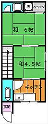 吉岡文化[2階]の間取り