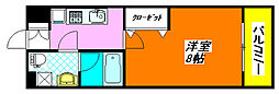 オランジュ上小阪 108号室[1階]の間取り