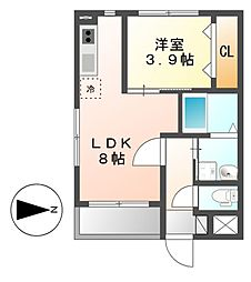 MOVE山王EAST[2階]の間取り