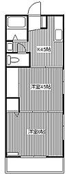 コーポ高橋[102号室]の間取り