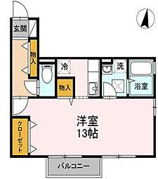 リビングタウン豊成 B棟[1階]の間取り