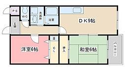 エクシードSS[2B号室]の間取り