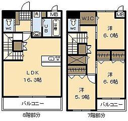 Y's court3[8階]の間取り