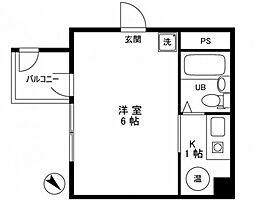 パレ・ドール神田[6階]の間取り