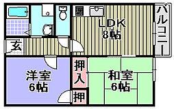 リバーサイド春木[2階]の間取り