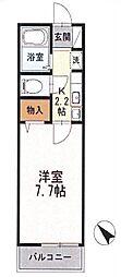 セリバテール太宰府[1階]の間取り