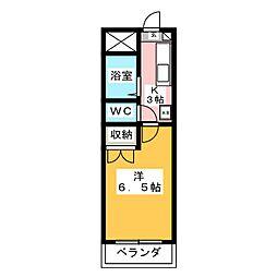 安田学研会館 東棟[2階]の間取り