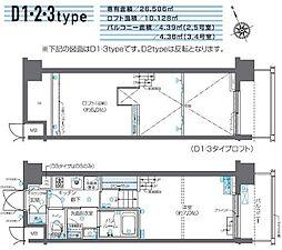JR山手線 田町駅 徒歩10分の賃貸マンション 7階1Kの間取り