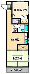 ドムス シーハイル[2階]の間取り